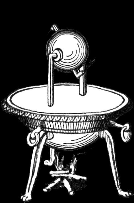 Aeolipile - Primi esperimenti per la macchina a vapore.