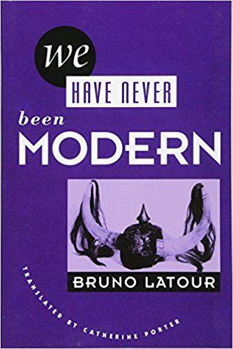 Bruno Latour, We Have Never Been Modern (1991), copertina dell'edizione tradotta in inglese da Catherine Porter (1993).
