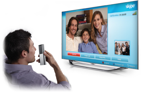 Control select TV functions by talking to your TV or into the built-in microphone on the Smart Touch Remote Control.